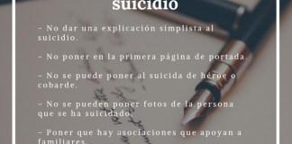 Suicidio. Normas básicas para informar