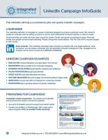 Integrated Alliances LinkedIn Profile InfoGuide