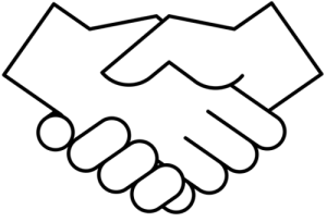 An icon of a hand shake