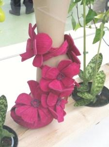Orchid shoes, by Dutch shoe designer Jan Jansen