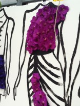 Orchid dress. You could stand behind this and have your photo taken.