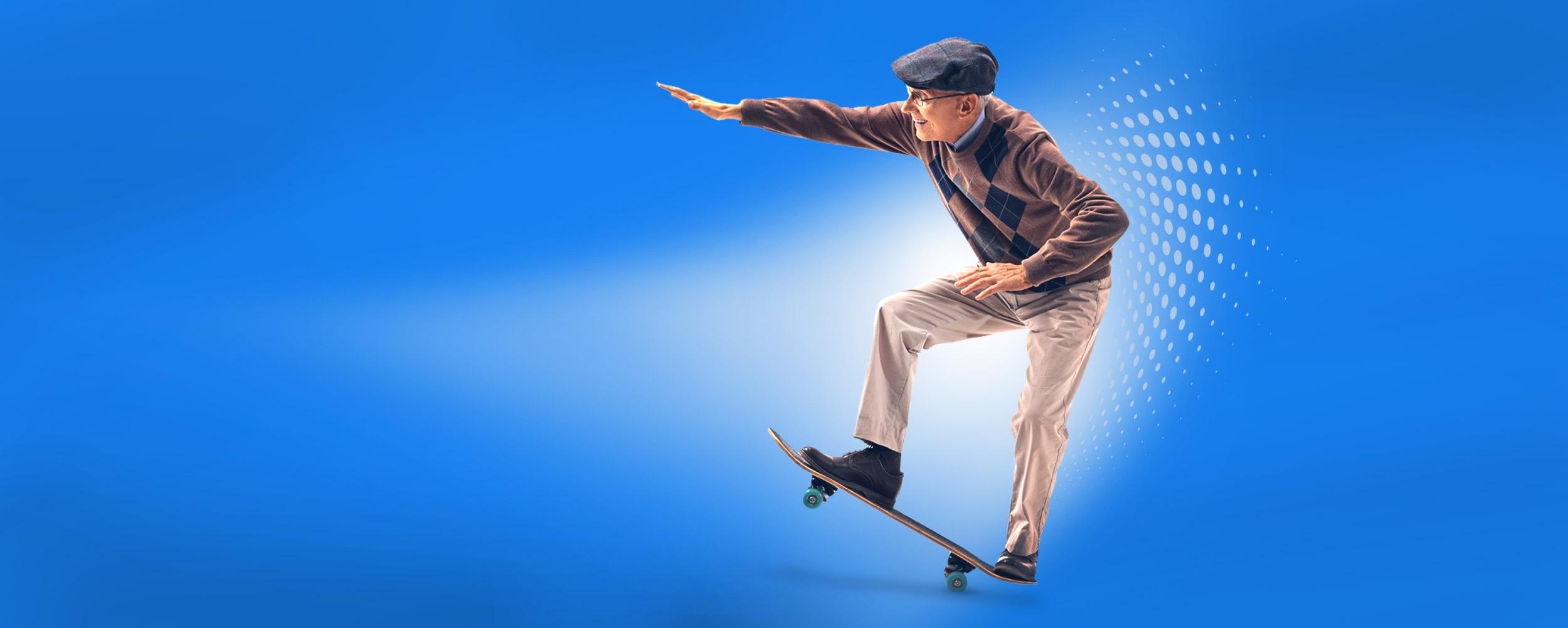 Geriatric Skateboarder