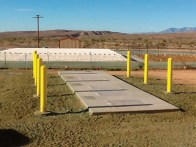 Completed Treatment System - Primary Tank, Anoxic Wetland, and Drain Field