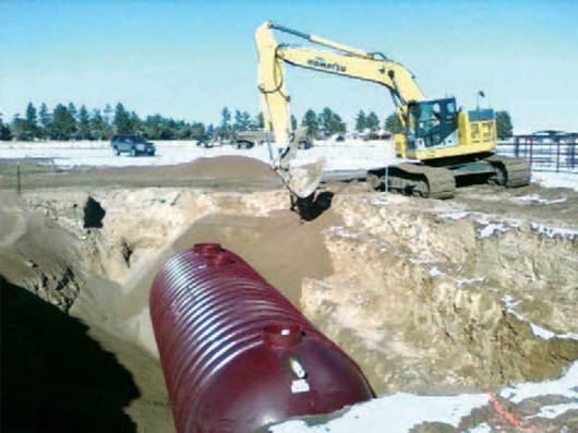 IWS Treatment Tank Installation