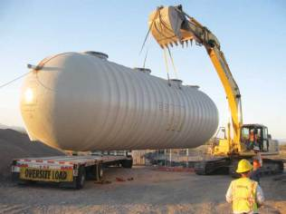 IWS Water Treatment Tank offloading