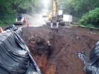Excavating a 12' tree stump