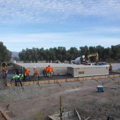 Pouring Concrete Apron