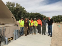 Project Team: Left to right: Bruce Wilkerson (IWS), Barbara Bradley (AOW), John Scott (IWS), Jay Carpenter(IWS), Ted Deason (IWS), Steve (Furnace Creek Operator), Jerry Poole (Inyo County Inspector), Steve Braband (BioSolutions).
