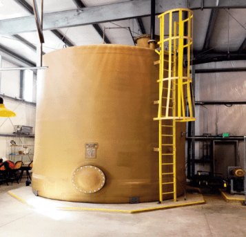 Flow equalization tank (21,000 gallons)
