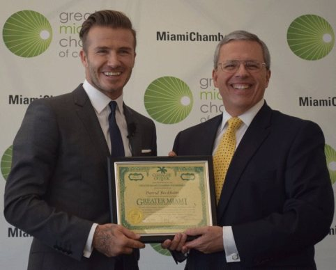 David Beckham Greater Miami Chamber of Commerce