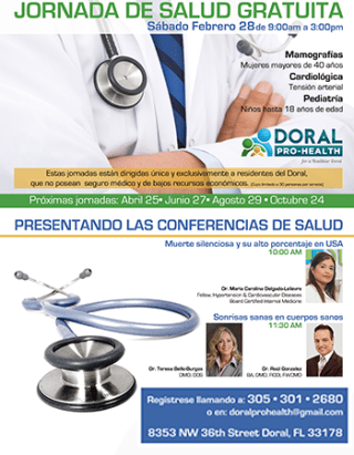 Doral Pro Health giving back to the community integrate news miami doral