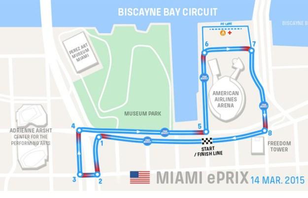 Miami formula e-prix integrate news automivilismo mapa circuito