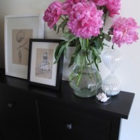 STYLING A SMALL SPACE OR OFFICE BY RE-PURPOSING AN IKEA MUD ROOM SHOE CABINET FOR FILING & STORAGE