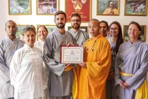 Presenting Shi Yanjun Certificate