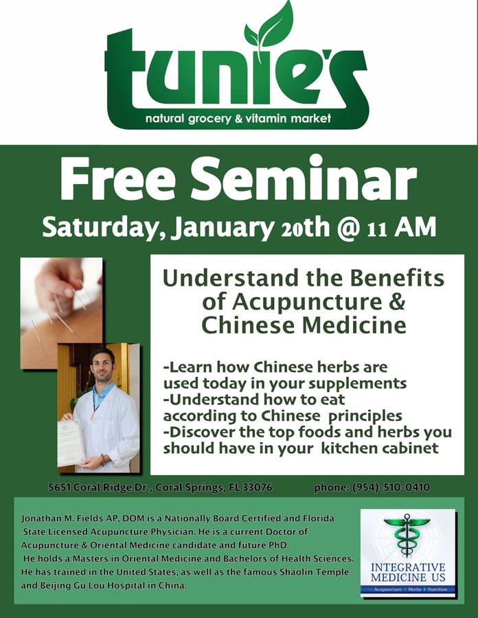 Parkland Acupuncture Coral Springs Chinese Medicine Seminar Tunies