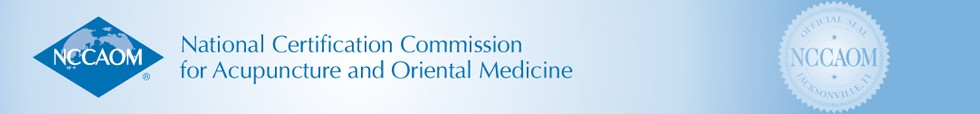 National Certifcation Commission Acupuncture Oriental Medicine Header