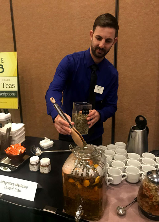 Coral Springs Acupuncture clinic serving tea at Gala