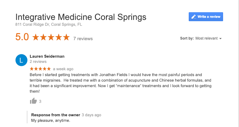 Acupuncture for Migraines Testimonial