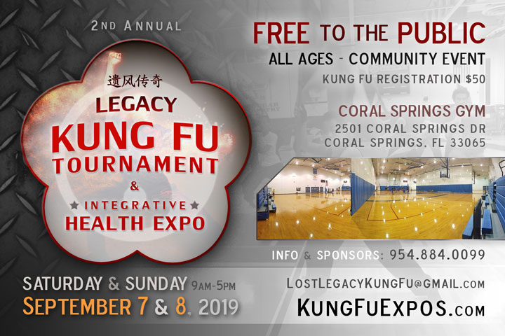 Legacy Ft Lauderdale Kung Fu Tournament Florida Sept 7-8 2019