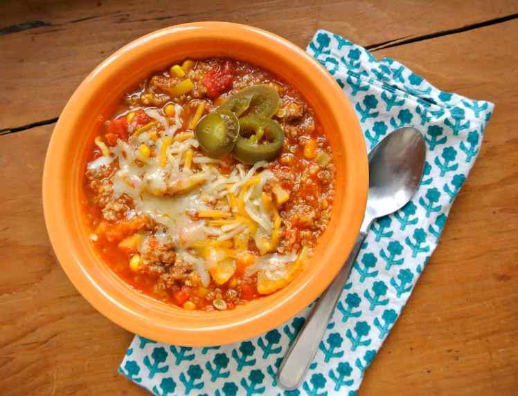 Veggie Packed Quinoa and Beef Chili 3