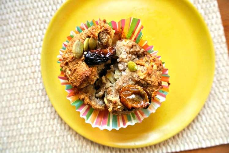 Vegan and Gluten-Free Blender Apple Muffins