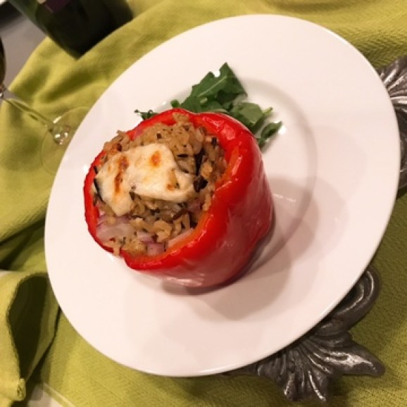 Wild Rice Stuffed Red Peppers 5