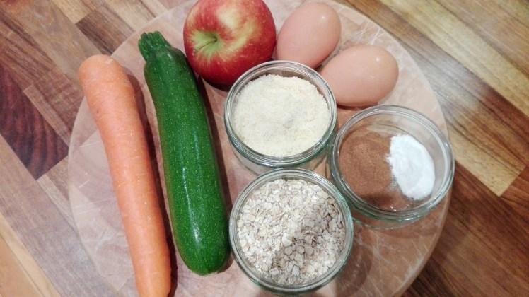 Zucchini Muffins ingredients
