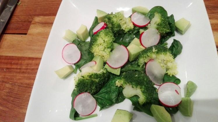 Broccoli Salad served