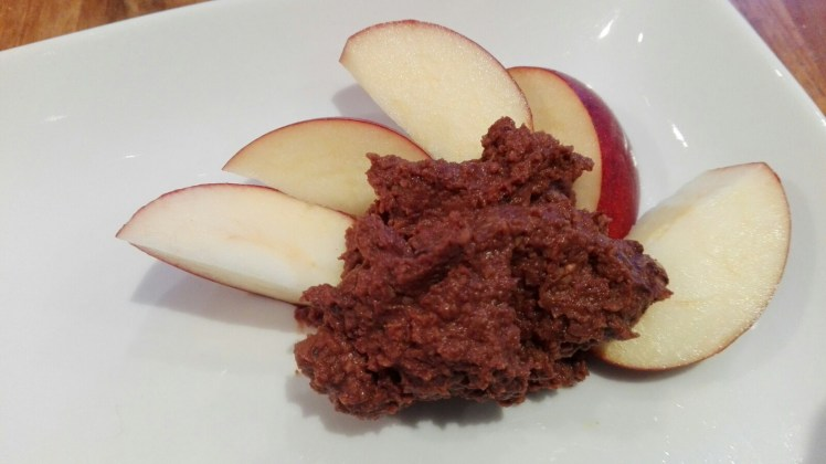 chocolate hummus with apple