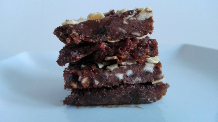 Raw Brownies finished