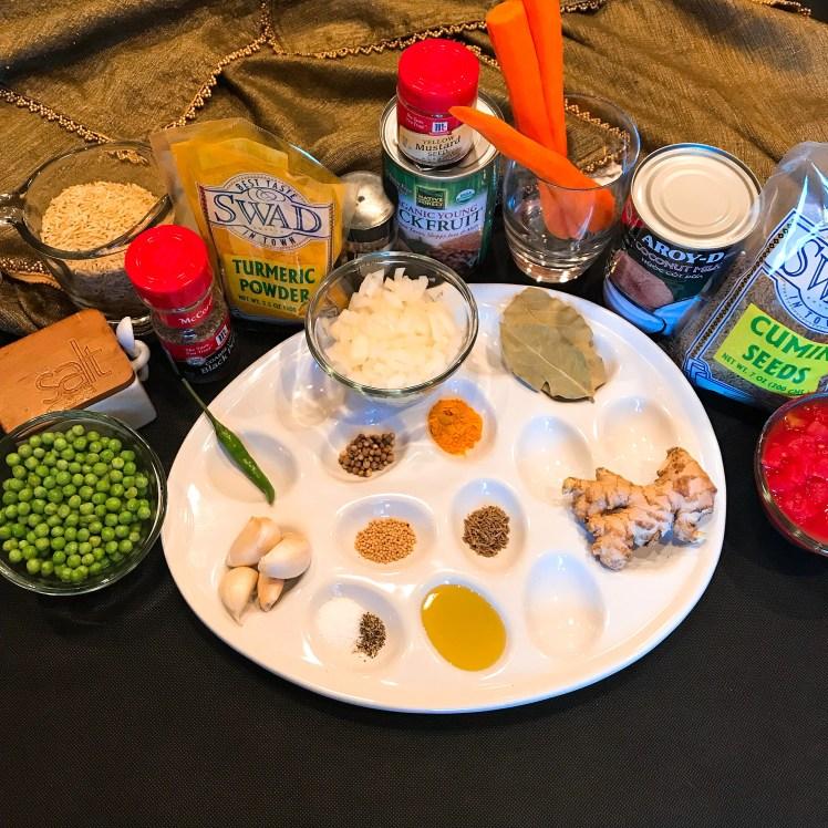 Jackfruit Curry Ingredients