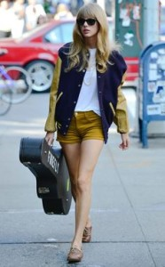 taylor swift jacket and shorts