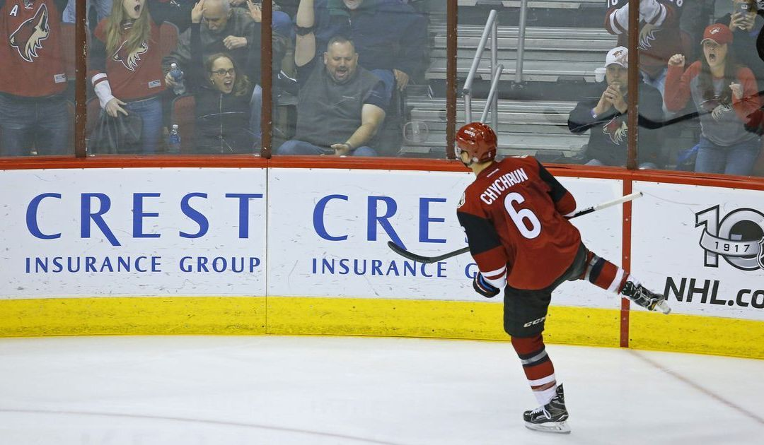 Arizona Coyotes' Jakob Chychrun playing beyond his years