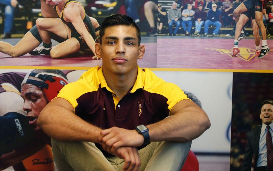 ASU freshman wrestler undefeated going into NCAA meet