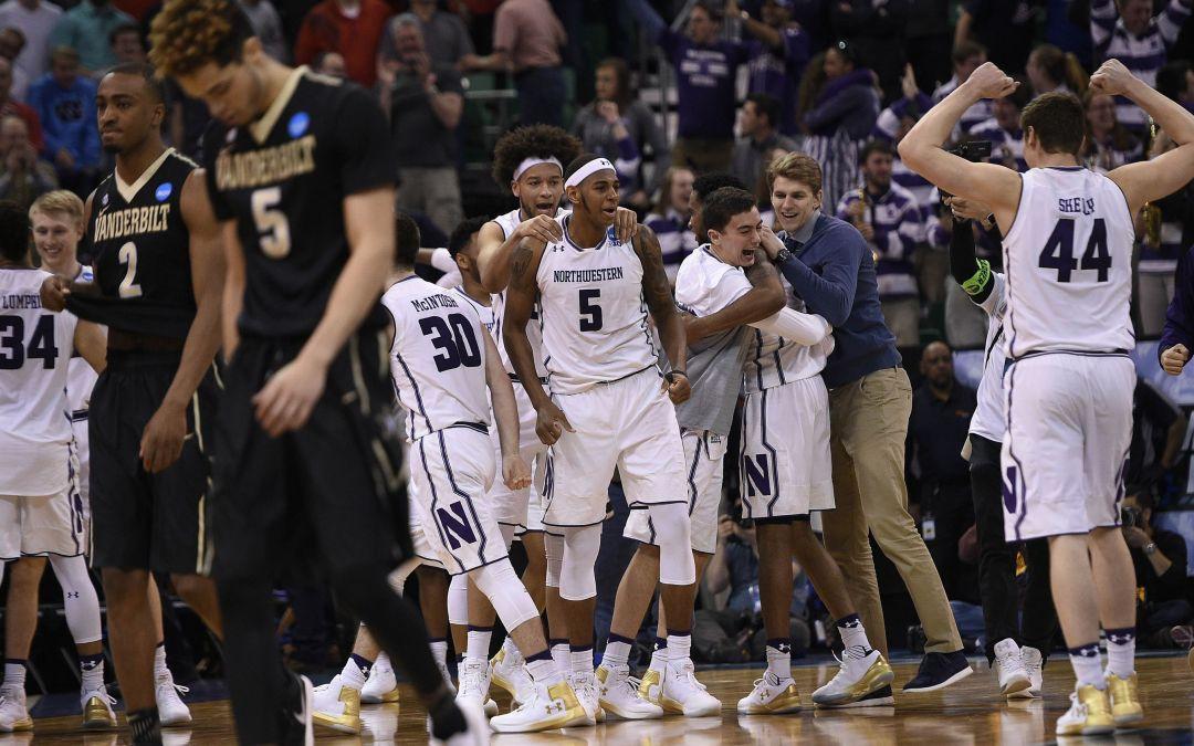 Northwestern wins first-ever NCAA tournament game off Vanderbilt's gaffe