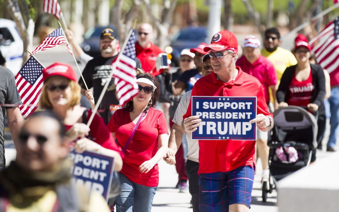 Arizona supporters march for Trump at MAGA event