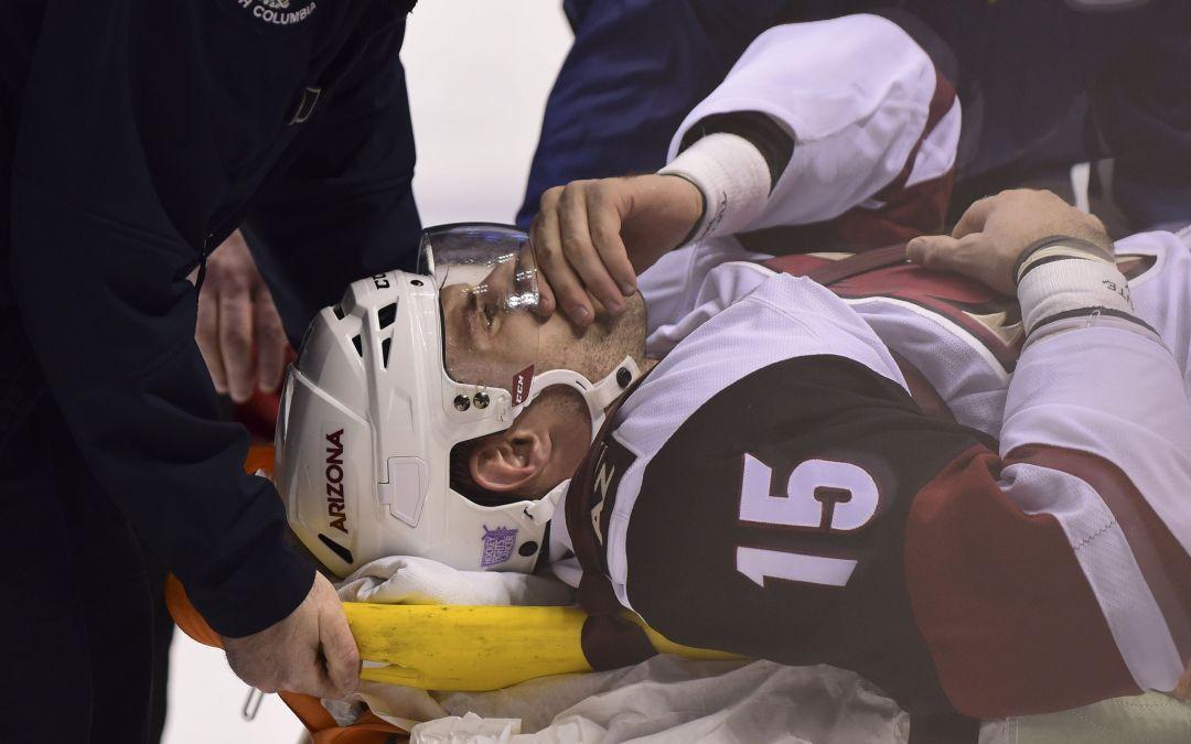 Arizona Coyotes' Brad Richardson won't return from leg injury this season