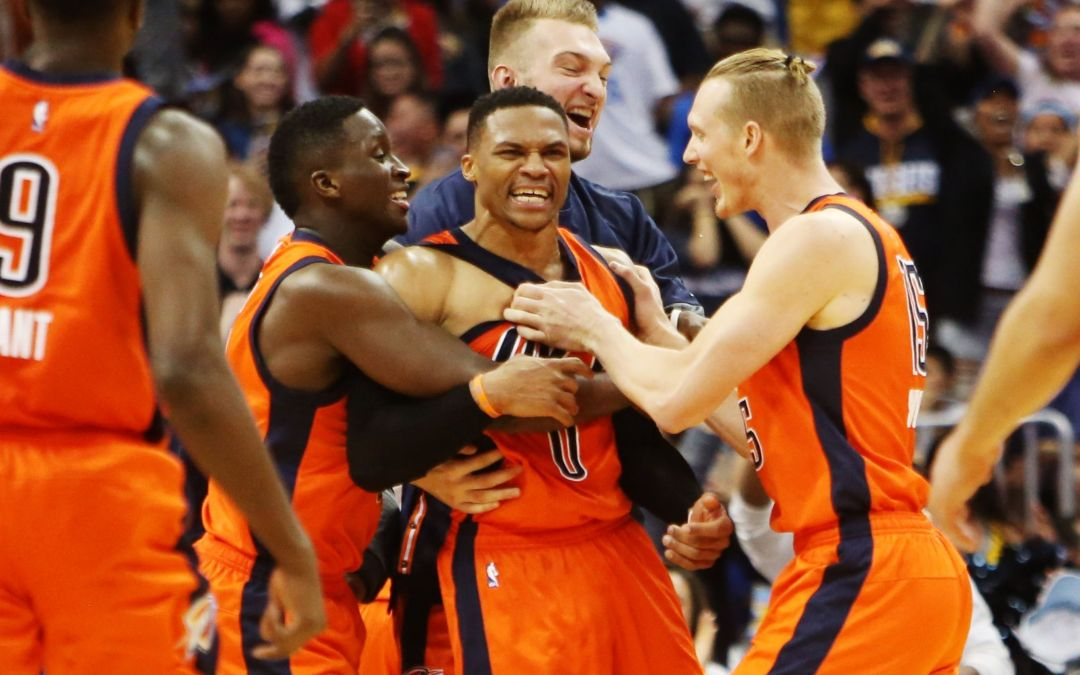 Russell Westbrook has 50 points, buzzer-beater in record 42nd triple-double