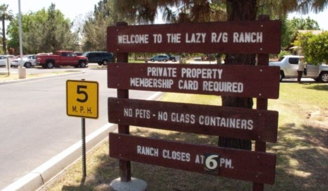 A glimpse behind the wall at the Lazy R&G Ranch in Phoenix
