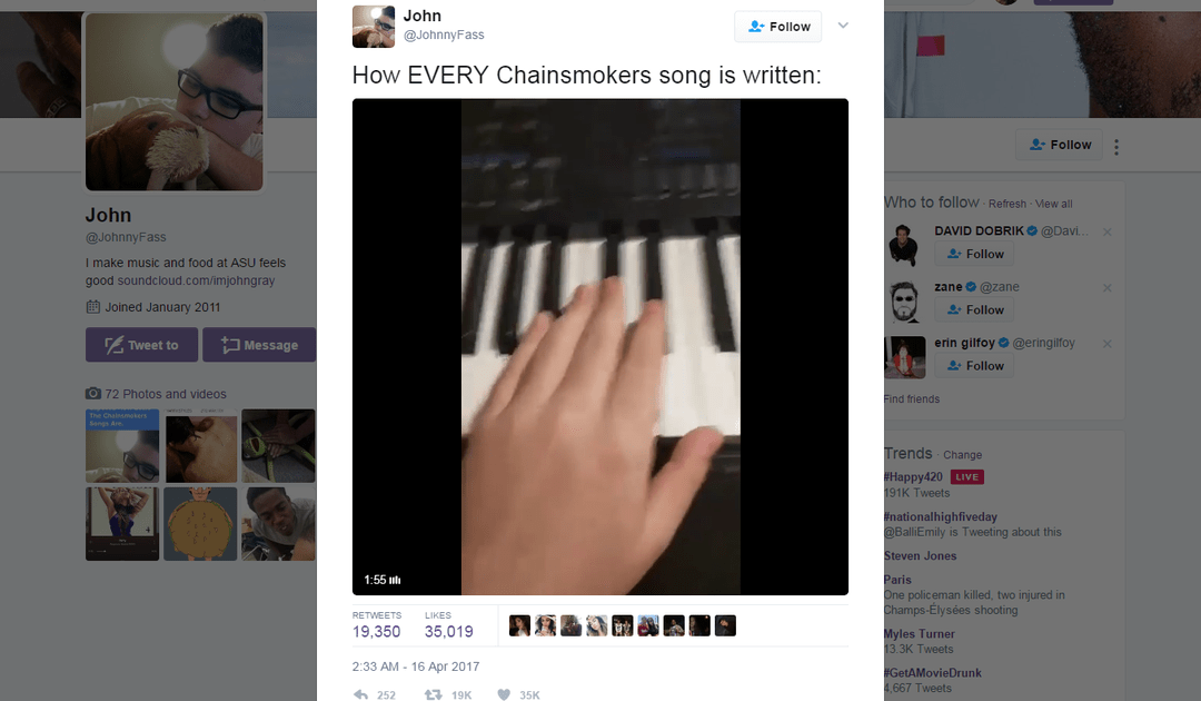 ASU student's video mocking The Chainsmokers goes viral