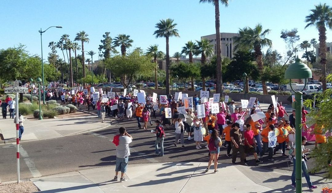Hundreds take the streets in Phoenix for May Day