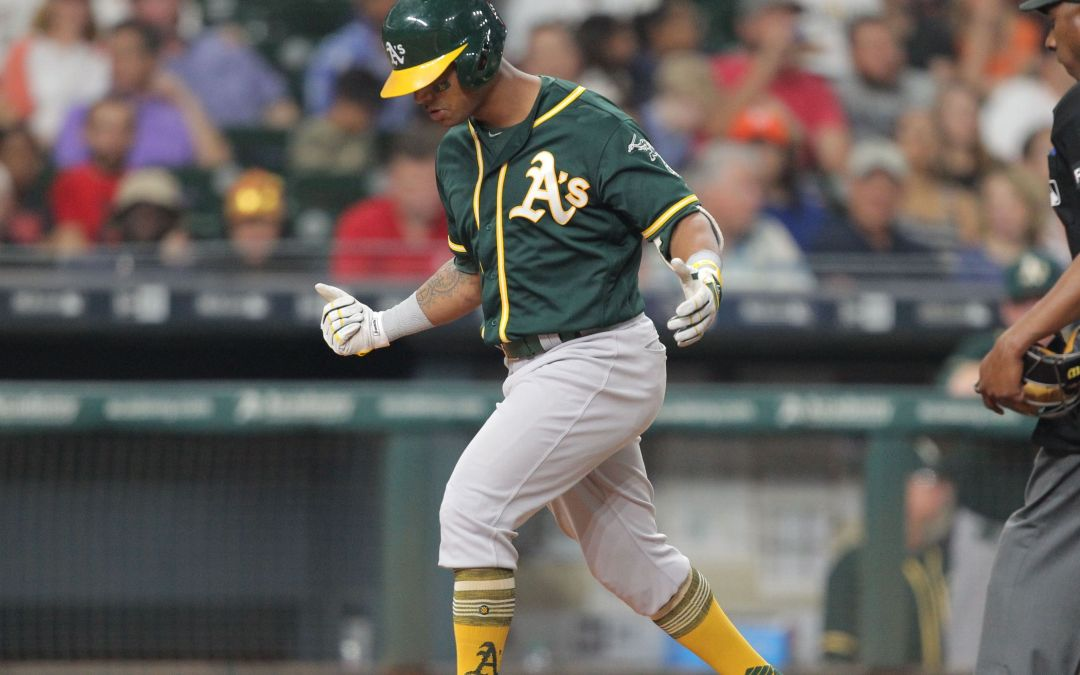 Khris Davis at 10 home runs