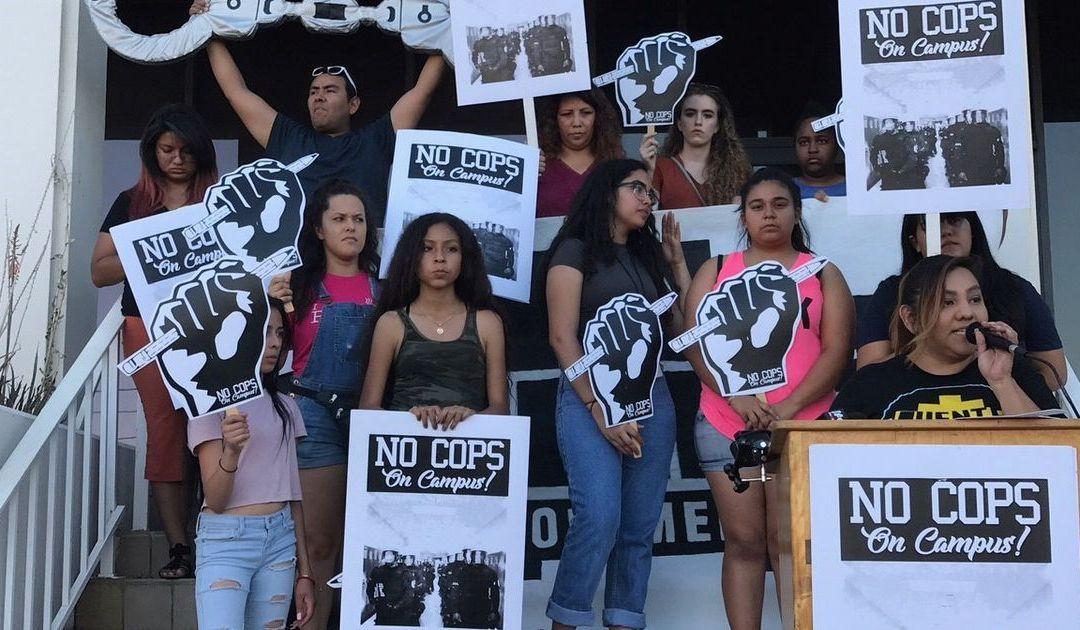 Students launch #CopsOuttaCampus campaign at Phoenix Union High School District schools
