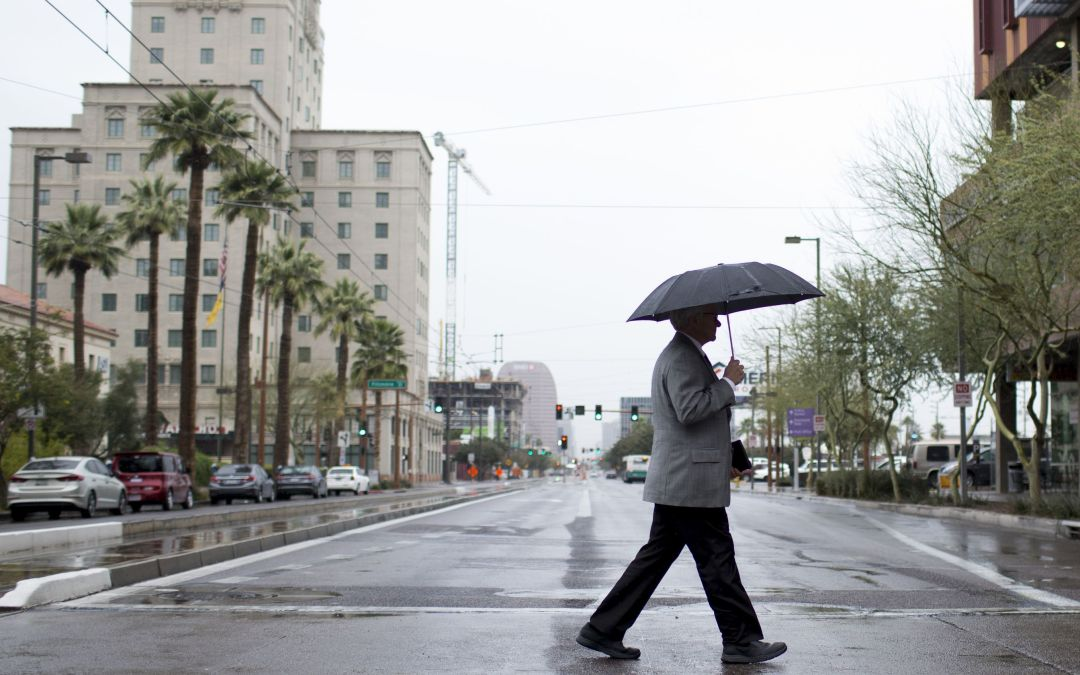 Widespread rain showers hit Valley