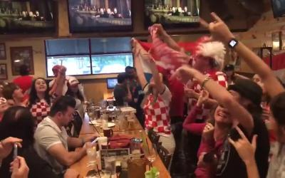 Arizona Croatians sing during World Cup game