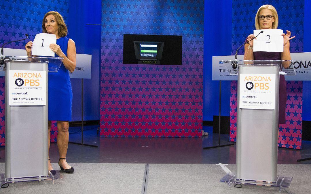 Martha Mcsally Kyrsten Sinema Square Off In Senate Debate