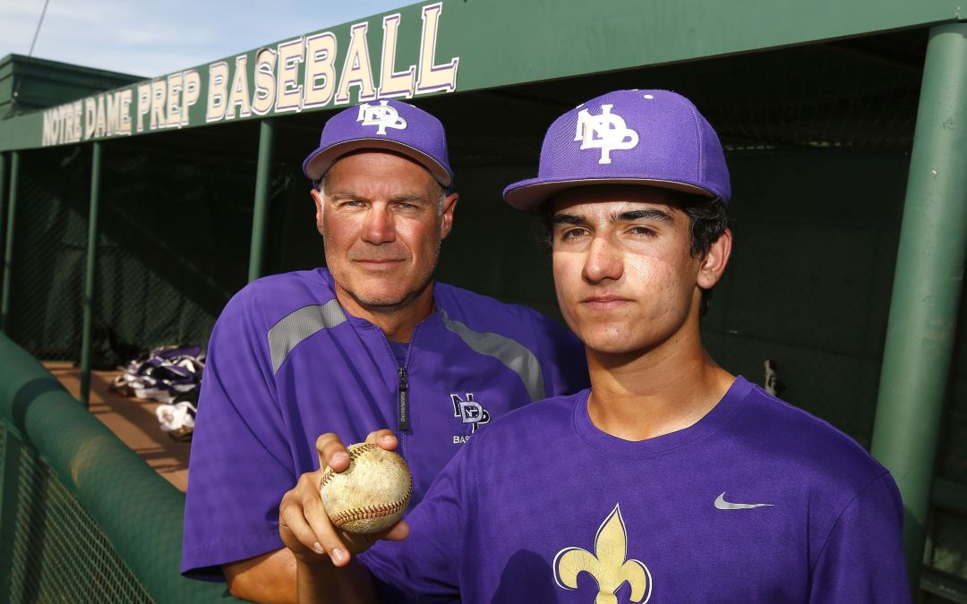 Notre Dame father-son baseball bond strengthened by heart failure