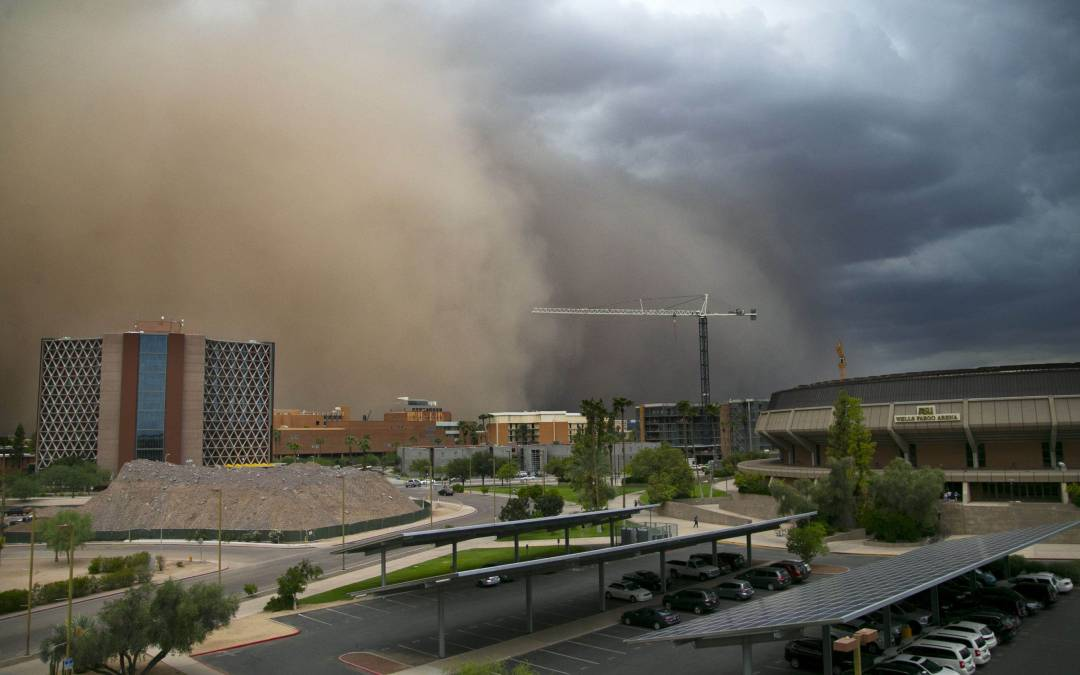 High heat could bring storms, dust
