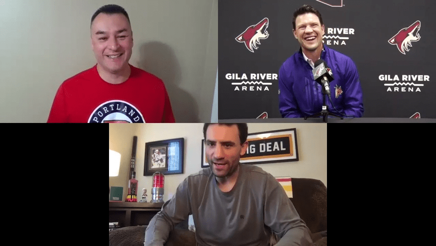 Former Coyotes Shane Doan, Paul Bissonnette on their podcast, 'Off the Post'