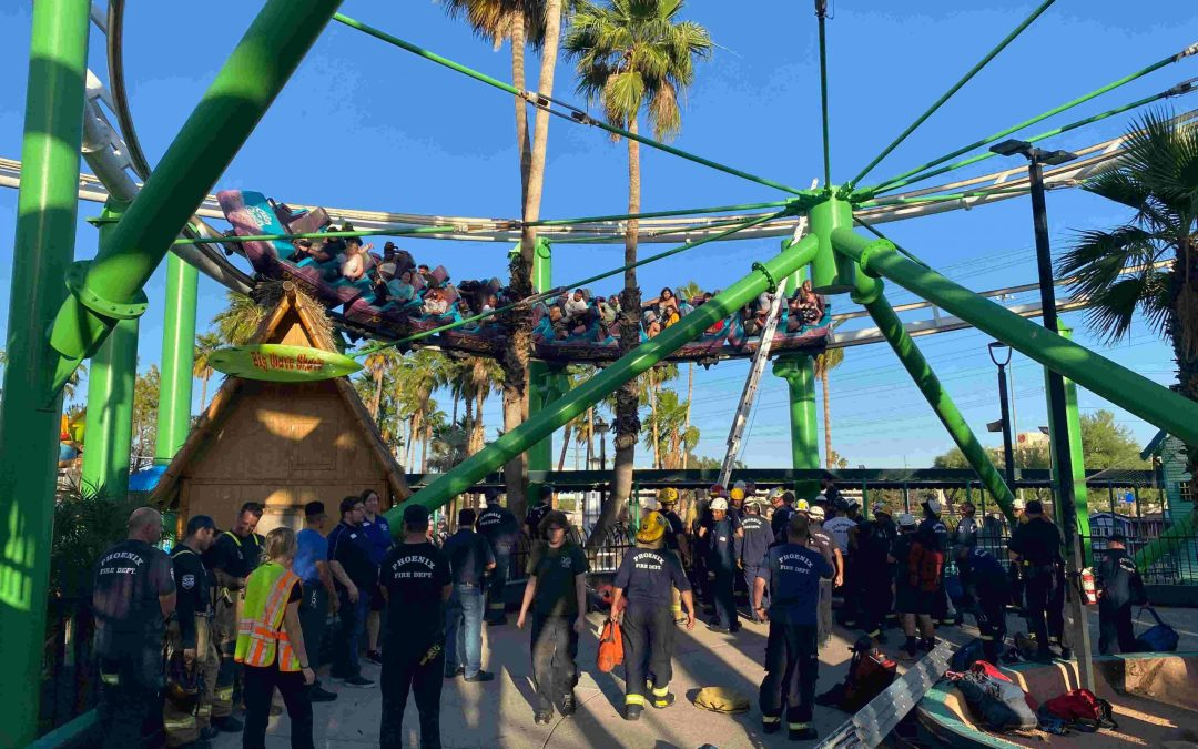 People rescued from stalled ride at Castles N' Coasters